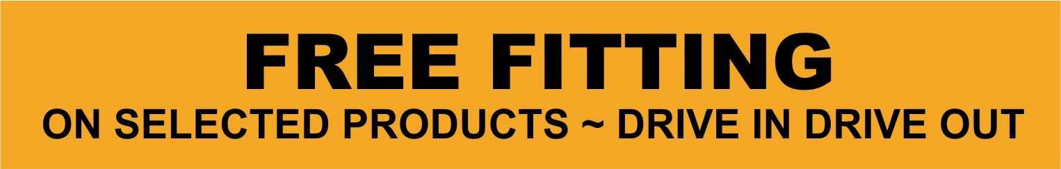Free fitting on selected products!